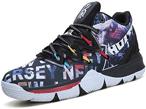 UNDERSPOR Amortiguación Zapatos de Baloncesto de los Hombres tamaño Fresco Antideslizante Botas de la Zapatilla de Deporte de formación Zapatillas de Baloncesto,Negro,43: Amazon.es: Deportes y aire libre