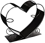 Cheap WINE BODIES ZB1190 Big Heart Metal Bottle Holder, Charcoal