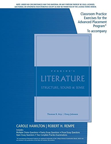 Classroom Practice Exercises for Perrine's Literature: Structure, Sound and Sense