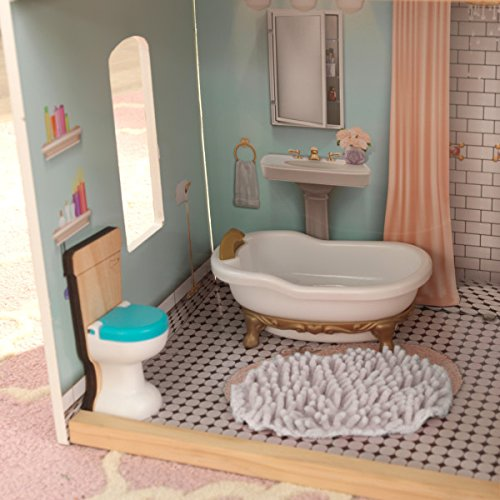 51QxceKl%2BvL - KidKraft So Chic Dollhouse with Furniture