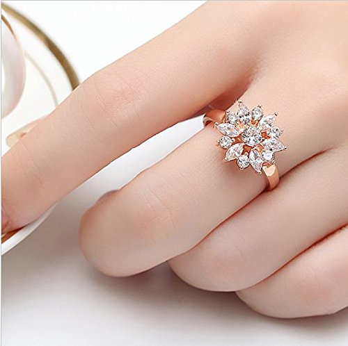 Amazon.com: Dixey Luxury Anillos Sortijas 18k de Compromiso Aniversario Matrimonio Boda Oro Plata Anel De Ouro Prata 925 Joyeria Fina Para Mujer: Jewelry