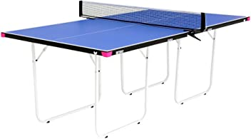 Butterfly Junior Table Tennis Table | 3/4 Size Ping Pong Table | 3 Year Warranty | Foldable Ping Pong Table with Wheels | Ships Assembled | Larger & Easier To Play Than A Mid-Size or Miniature Ping Pong Table