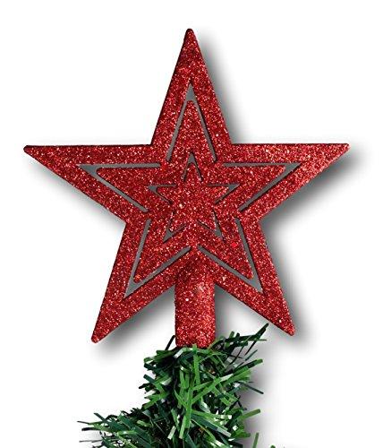 Puntale A Stella Per Albero Di Natale.Puntale Per Albero Di Natale A Stella Decorazione Natalizia Con