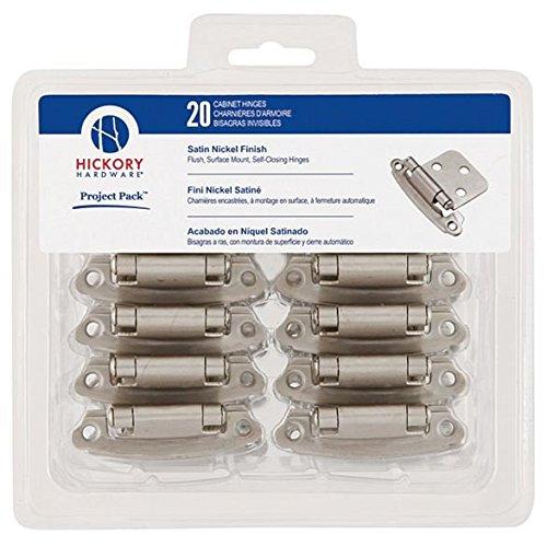 (Belwith/Hickory Hardware VP244-SN Hinge,Flush,Self Close, 10/Pk - Satin Nickel)