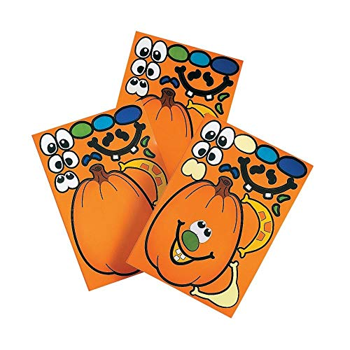 Christian Halloween Party Games (Make A Pumpkin Stickers (1 DOZEN) -)