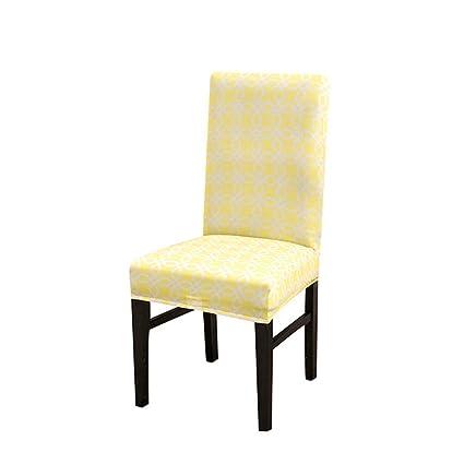Stupendous Amazon Com Berteri Geometric Print Yellow Chair Cover 2Pcs Squirreltailoven Fun Painted Chair Ideas Images Squirreltailovenorg