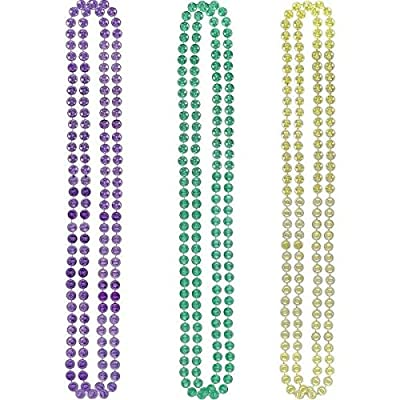 "Mardi Gras Plastic Coin Party Necklaces, 42"", 6 Ct.: Toys & Games"