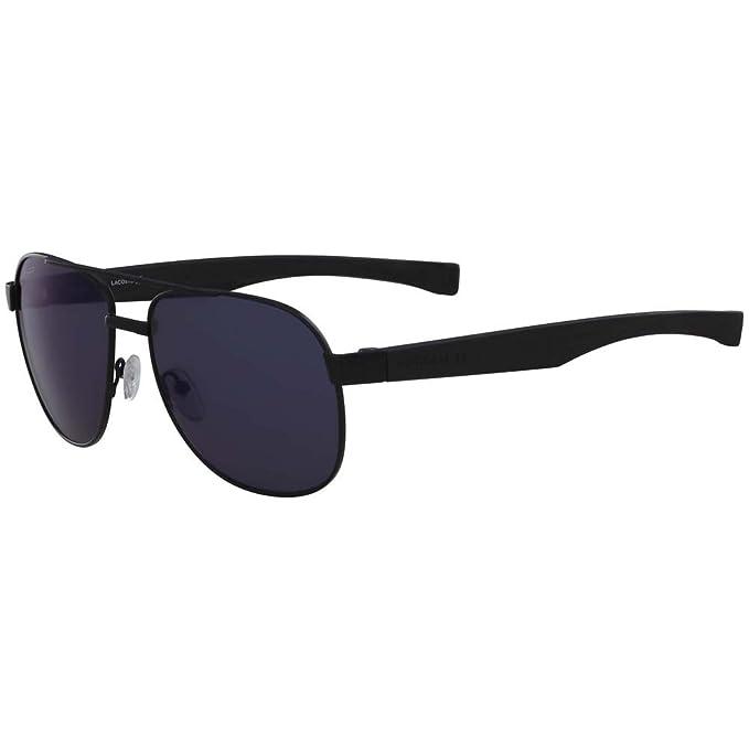 edc78bd5e Lacoste Men's L186s Aviator Sunglasses, Black Matte, 57 mm: Amazon ...