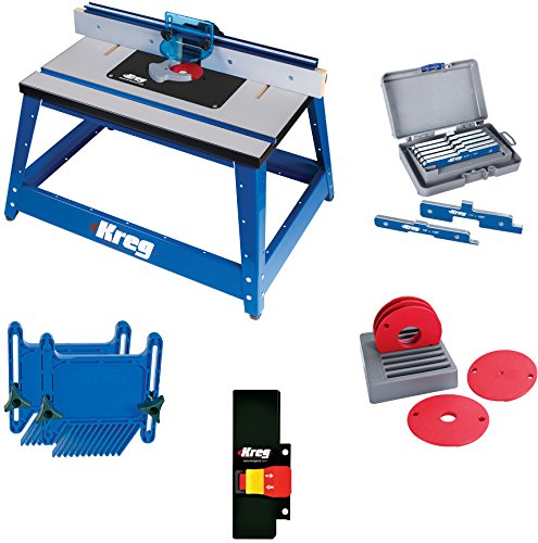 Kreg PRS2100 Bench Top Router Table with Essential (Precision Benchtop Router Table)