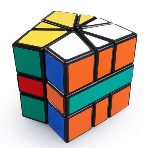 Square Brain Teaser (Thinkmax Square-1 Brain Teaser Speed Cube Puzzle Black)