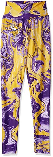 Zubaz NFL Minnesota Vikings Women's Swirl Leggings, Multicolor, X-Small
