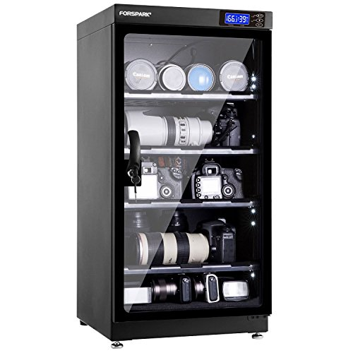 FORSPARK Camera Dehumidifying Dry Cabinet 8W 100L...