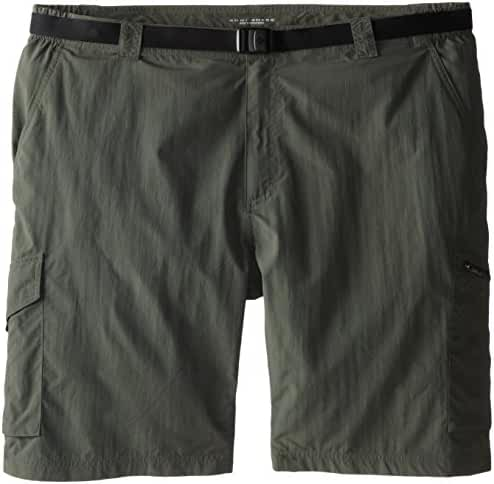 Columbia Sportswear Men's Big Silver Ridge Cargo Shorts, Gravel, 52 x 10