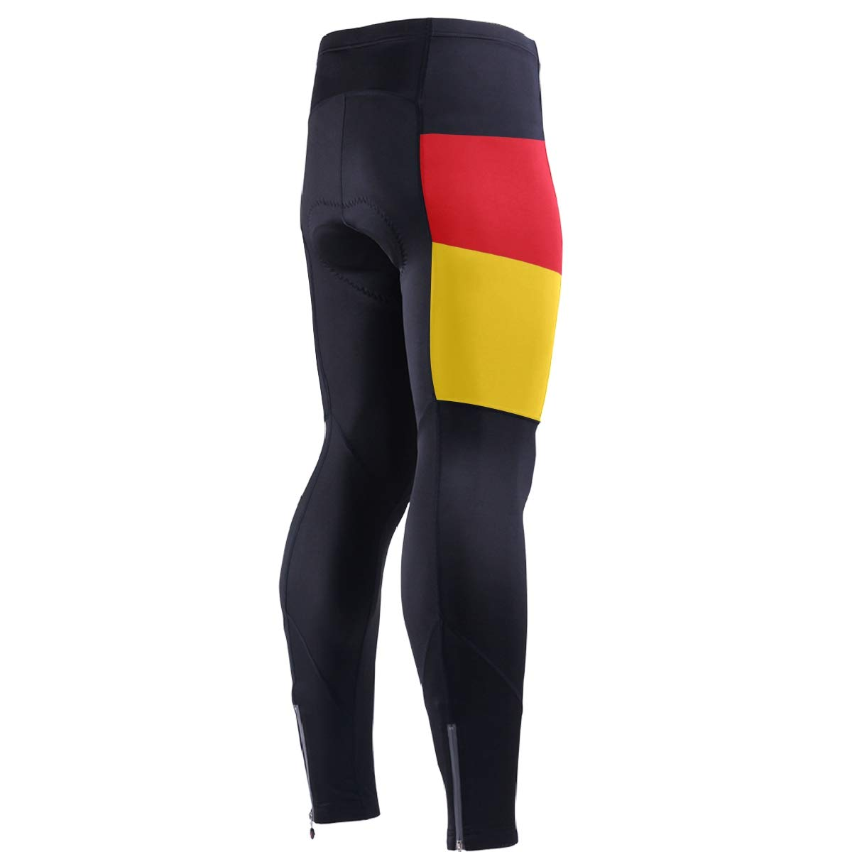 CHINEIN Men's Cycling Jersey Long Sleeve with 3 Rear Pockets Pants German Flag by CHINEIN
