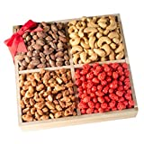 Broadway Basketeers Gift Basket 4 Section Gourmet Assorted Fancy Nuts Tray – Makes For A Perfect Gifts