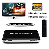 xbox 360 console 120g - HDMI Video Capture,Rongyuxuan HDMI to USB3.0/2.0 Dongle 1080P 60FPS Drive-Free Capture Card Box for Windows Linux Os X System (Black Hdmi Capture)
