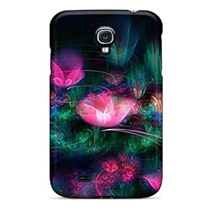 Defender Case With Nice Appearance (abstract Flowers) For Galaxy S4