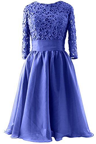 Women Royal MACloth Mother 3 Gown Bride Short Blue of Lace Dress 4 Evening Formal Sleeve UwgdqZ