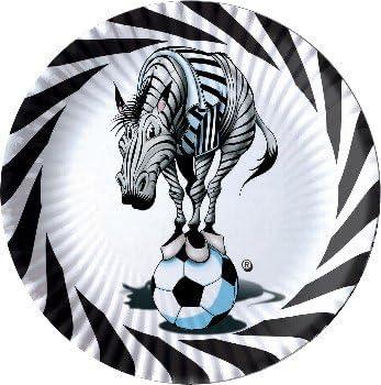O.M.A.C SRL Juventus Assiettes en Papier Diam/ètre 24/cm Lot de 10