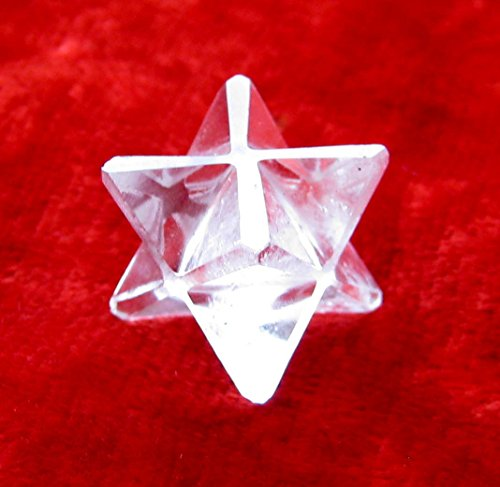 CRYSTAL MIRACLE EXCELLENT CLEAR QUARTZ MERKABA STAR CRYSTAL HEALING POSITIVE ENERGY MEN WOMEN GIFT METAPHYSICAL GEMSTONE PEACE HEALTH WEALTH REIKI FENG SHUI SUCCESS ()