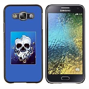Qstar Arte & diseño plástico duro Fundas Cover Cubre Hard Case Cover para Samsung Galaxy E5 E500 (Derretido cara del cráneo)