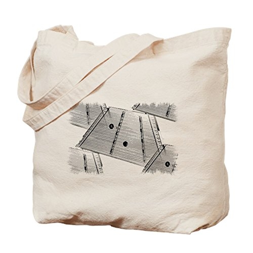 CafePress Hammered Dulcimer Natural Canvas Tote Bag, Cloth Shopping ()