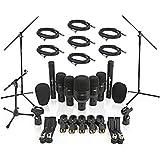Micrófonos para Baterías (7 Unidades) + Soportes y Cables de Gear4music