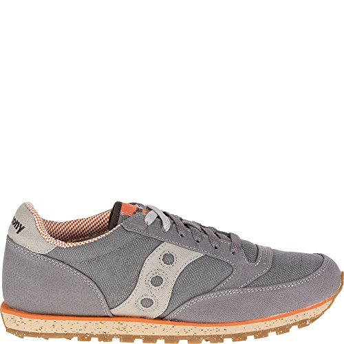 Saucony Jazz Low Pro - Saucony Originals Men's Jazz Low Pro Vegan Sneaker,Charcoal/Orange,11.5 M US