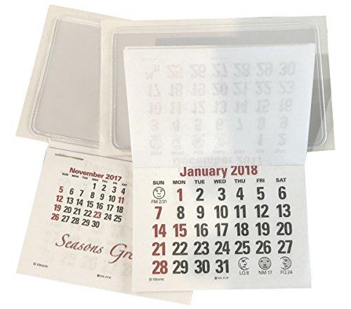 Dec Business Calendar (Business Card Stick Up Calendars 2018 Plus Nov Dec 2017 - Set of 50)