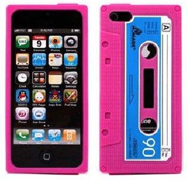 VB original iPhone 4S silicone a forma di musicassetta - rosa
