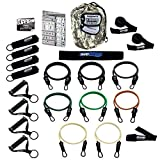 Bodylastics 19 pcs *STRONG MAN XT (254 lbs.) Quick-Clip Resistance Bands System with 7 D.G.S. anti-snap exercise tubes, Heavy Duty components & 7 DVDs