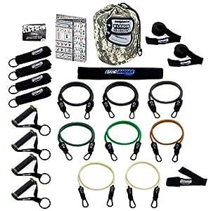 Bodylastics - Bandas de resistencia (21 unidades) Incluye 8 tubos irrompibles, bolsa de transporte, DVD en inglés y una suscripción gratuita de 6 meses a la página web Liveexercise. Fabricadas con materiales de calidad.
