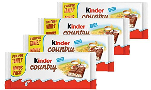 Kinder Country Milk Chocolate with Cereals, 94g (Pack of 4) Review