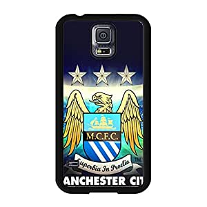 Cool Personalized Man City Manchester City FC Logo Samsung Galaxy S5 I9600 Mobile Phone Cover Case EPL Football Club Series Official Manchester City Football Club Logo Phone Case Cover MCFC Logo