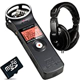 Zoom H1 Handy Flash Audio Recorder With VRT-HP760 Stereo Headphones