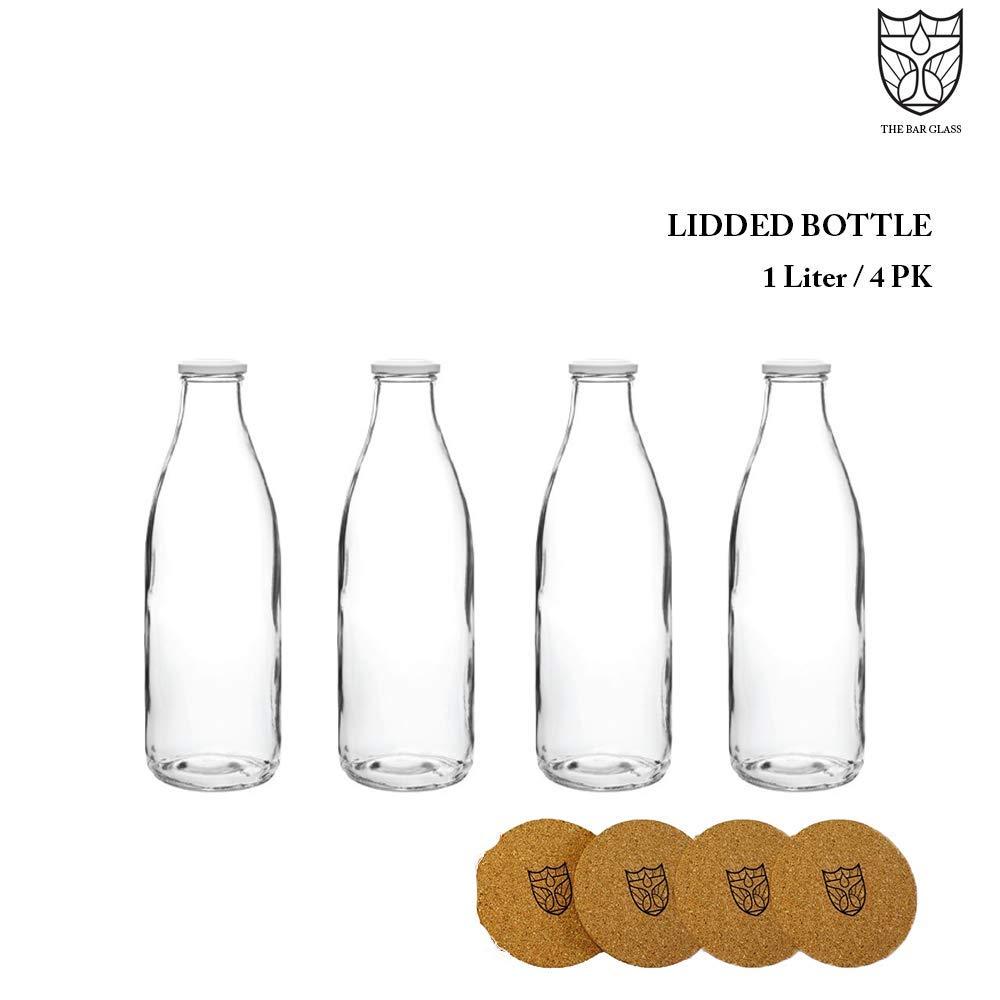 The Bar Glass Lidded Bottle (Milk, Water, Juice) 1 Liter (4)