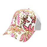 BCDshop Butterfly Flower Baseball Cap Women Lady Duck Tongue Hat Anti Sai Cap (Pink 3)