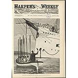 Boat Racing Navy Ship US Sailors Rowing Battleships Powerful Strokes 1891