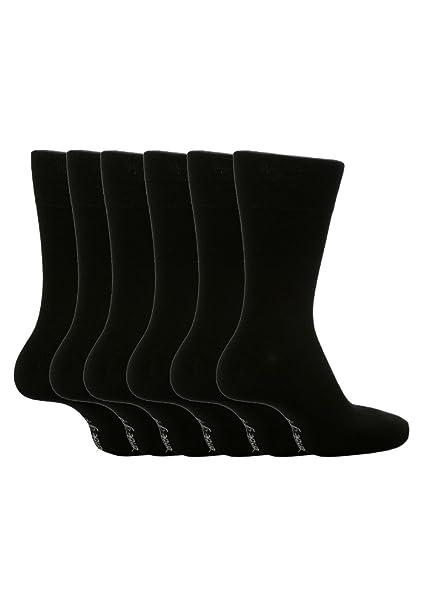 6 pares hombre SockShop algodón agarre suave calcetines pie grande, talla 12 – 14 Reino Unido 46 – 50 euros ver varios: Amazon.es: Ropa y accesorios
