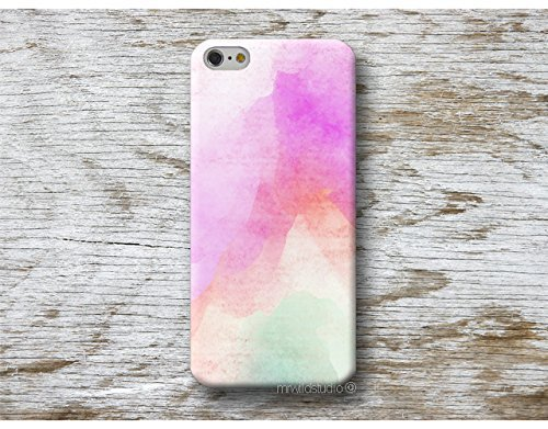 Funda Acuarela para iPhone 4 5 5s SE 6 6s 7 Plus Samsung Galaxy s8 s7 s6 s5 A5 A3 J5... Huawei LG Moto Oneplus Sony HTC ....