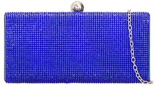 Embrague Metálica Rígido Bolsa Femeninos Broche Bola Diamante Estuche Bolsos Precioso De Azul De De xtHqXx7dw