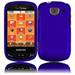Blue Rubberized Hard Faceplate Cover Phone Case for Samsung Brightside U380