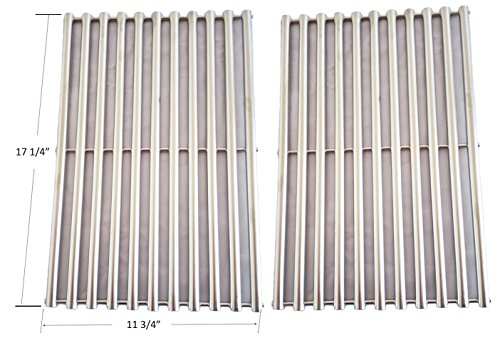 9930-Stainless-Steel-Cooking-Grill-Grid-Grate-Replacement-for-Weber-9930-Ducane-Lowes-Model-Grills-Set-of-2