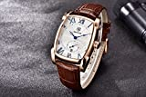 BENYAR Watch for Men 5114M Square 3ATM Waterproof Leather Simple Fashion Casual Rectangle Watch