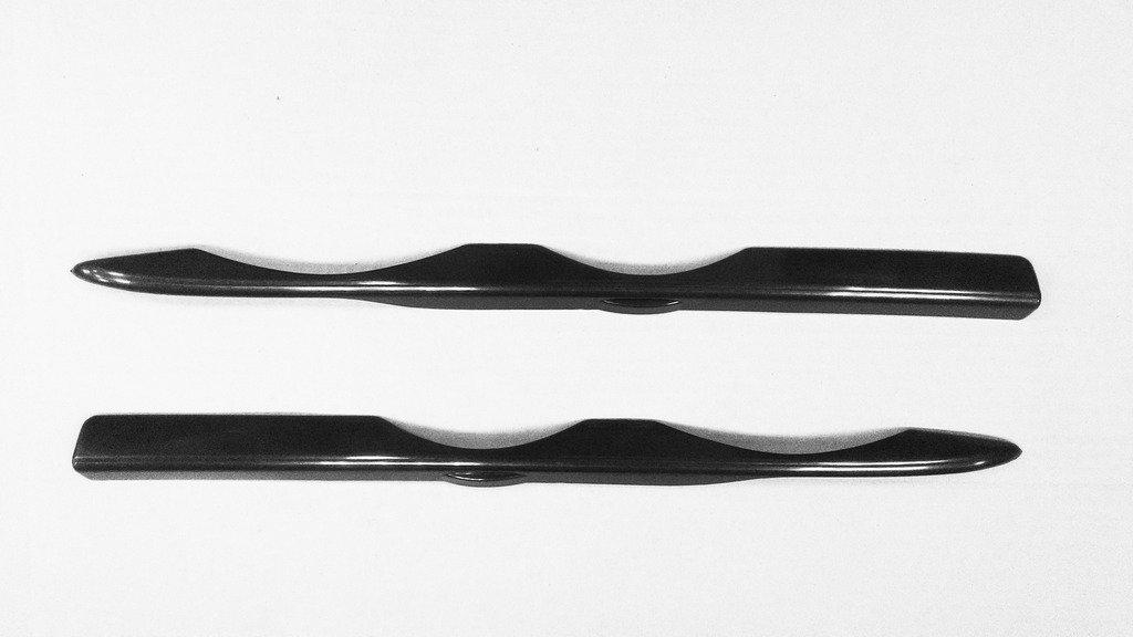 (2) negro sin pintar los pá rpados pá rpado Cejas faros delanteros de fundas para 1987 –  1996 E34 CarLab