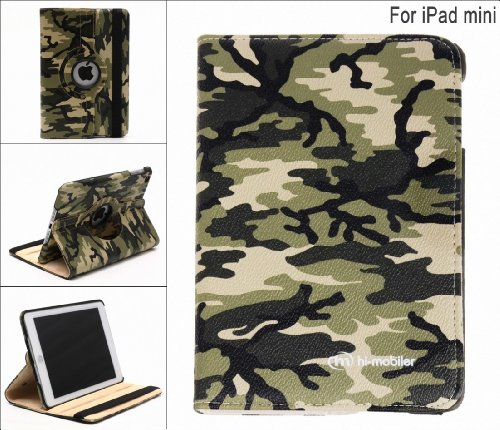 Hi-mobiler Camouflage Design Cover Case for Ipad Mini with Sleep/wake Function(i) and Free Hi-mobiler Cord Tie