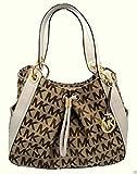Michael Kors Ludlow Handbag (MK Print/White)