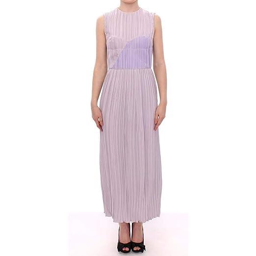 13a4ce3ebde4 Barbara Casasola Black Lavender Gown Maxi Silk Long Dress at Amazon ...