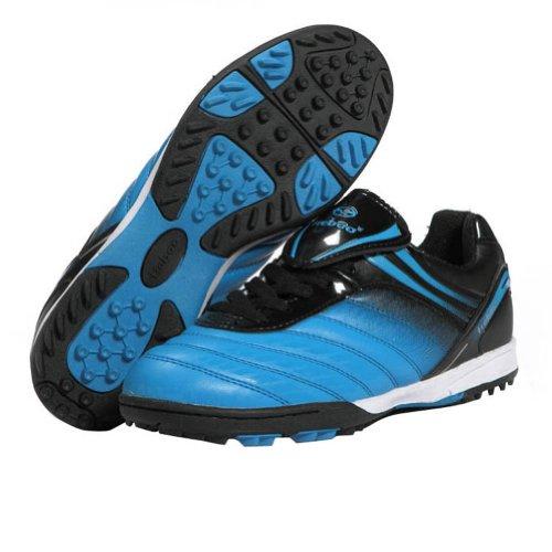 Tiebao Niños Respirable Difícil Suelo Interior Velocidad Patentar Cuero Fútbol Zapatos 1216 Azul