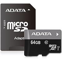ADATA AUSDX64GUICL10-RA1 Micro SDHC/SDXC UHS-I U1 Tarjeta de memoria con un adaptador